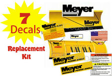 MEYER Snow Plow Decal 7 Pc. Kit w Angles Warnings Front Blade Flag Set NEW (MK1)
