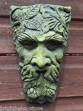 "HARVEST GREEN MAN KEYSTONE PAGAN WICCAN WALL PLAQUE GARDEN ORNAMENT 26cm/10""H"