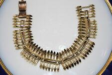 VINTAGE OLD CORO PEGASUS MULTIPLE LINK GOLD TONED METAL BRACELET NICE PIECE