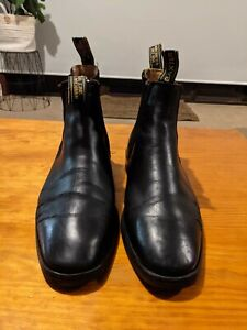 Baxter Goulburn Boots Size 10 Pre-Owned Goodyear Welted Black Chelsea UK 44