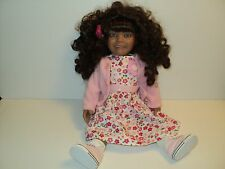 """NEW Down Syndrome Doll Female 19"""" Porcelain Light Brown Skin Extra Special Dolls"""