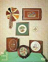 Butterfly Flowers Mushrooms Cross Stitch Pattern Leaflet 7 designs Hoop Hooray