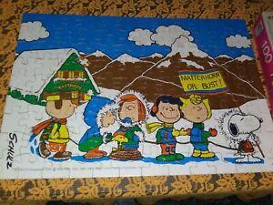 """Vintage Peanuts Puzzle 1978 Matterhorn Or Bust 16"""" X11"""" 100 Pieces Complete Milt"""