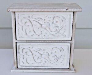2 Drawer Fillagree Mandala Desktop Cabinet Home Decor