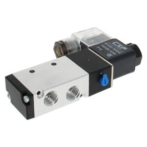 Pneumatic Solenoid Valve 1/4 PT Base Muffler 2 Position 5 Way Connection