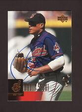 David Segui Autograph--Cleveland Indians--2001 Upper Deck Baseball Card
