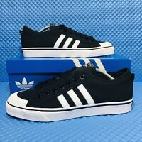Adidas Originals Nizza Men's Athletic Skate Casual Sneakers Black White Shoes
