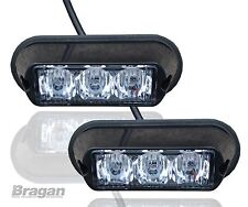 2x White Strobe Flashing LED Lights Breakdown Recovery Lorry Truck Lamps Pair)