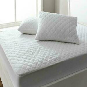 New Soft Extra Deep Fitted Quilted Mattress Protector Topper Bed Cover All Sizes