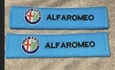 Alfa Romeo blue seat belt pads x4 free gift ( seat of 4) brand new sale