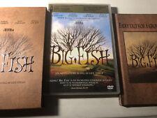 Big Fish (2003) Dvd w/Slipcover & Book A Tim Burton Film