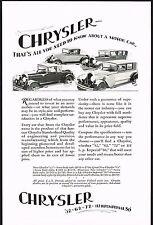 1928 Old Vintage Chrysler Models Car Co Automobile Art Print Ad