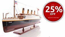 "RMS Titanic Ocean Liner 32"" Built Wooden Cruise Ship Model Boat Assembled"