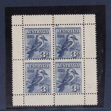 Australie  bloc 2  3p bleu  oiseau   , cote 300 euro
