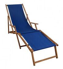 Transat Chaise Longue Transat pour Jardin Bleu avec Pied Massif 10-307 Pour