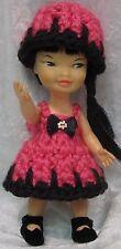 HEIDI and JAN Remco Doll Clothes #06 Handmade Crochet Dress & Hat Set