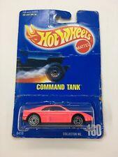 VINTAGE WRONG CARD ERROR ~ 1991 Pink FERRARI 348 on COMMAND TANK Hot Wheels Card