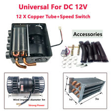 12V Universal Copper Underdash Compact Heater 12PCS Copper Tube & 1XSpeed Switch