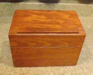 Vintage Wood Recipe Index Card Box