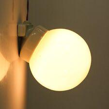 Wand Lampe Porzellan Sockel mit Opalglas Kugel Vintage 30er-50er Jahre