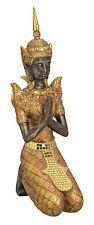 Tempelwächter Thai Buddha kniend braun gold Figur Feng Shui ASIA Statue ca 40 cm
