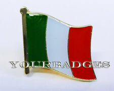 Gold colour Metal Italian Flag lapel Pin Badge Italy Italia