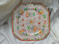 Vintage MADE IN JAPAN Floral Pattern Plate 10.5 inch TASHIRO SHOTEN LTD - Holes