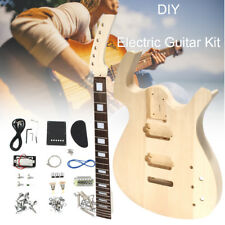 Electric Guitar Mahogany Body Rosewood Fingerboard DIY Kit Unfinished Assembly
