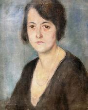 Pal Fried 1893-1976 Budapest / Gemälde / Portrait einer jungen Frau 1933 gerahmt