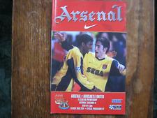 Arsenal v Newcastle United - FA PL - Season 2000 - 2001 (VGC)