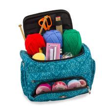 Knitting Bag, Sewing Accessories,Craft Needle Storage Organiser Case, Teal Ella