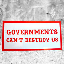 """Support 81 Sticker Aufkleber """"GOVERNMENTS CAN´T DESTROY US"""" HAMC North End"""