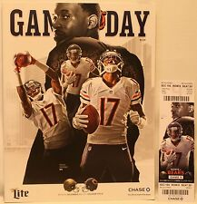 2014 Chicago Bears New Orleans Saints Program w/Ticket Alshon Jeffery Cover