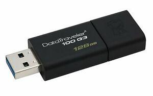 128GB Kingston DT100G3/128GB Flash Drive, Pen Drive, USB stick, USB 3.0
