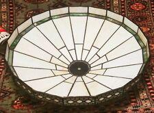 Arts & Crafts lamp shade vtg leaded slag glass art deco table floor ceiling