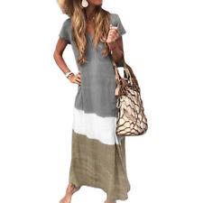Women Summer Boho Floral Print Long Maxi Dress Casual Loose Sundress Plus Size