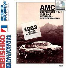 1982 1983 AMC Spirit Concord Eagle Shop Service Repair Manual CD OME Guide