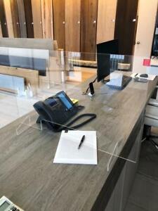Sneeze Guard Acrylic Plexiglass Table Desk Checkout Counter Protective Shield