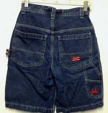 JNCO Jean's Youth 14 Shorts Crown King Logo Hip Hop Jean Shorts Teen 28 Waist!!!