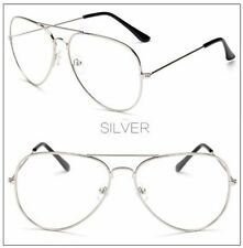 Vintage Classic Fashion Pilot Aviator Sunglasses Clear Lens Glasses Geek Frames