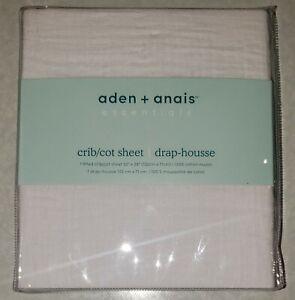 Aden+ Anais Baby Fitted Crib Sheet100% Cotton (WHITE) Muslin (52x28 mattress)NEW