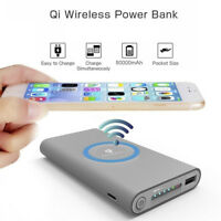2IN1 Qi Wireless External Battery Charger 10000mAh Power Bank For iPhone Samsung