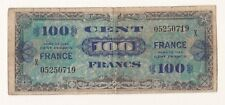 "1944 France Allied Currency 100 Francs Replacement "" X "" Note."