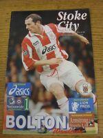29/01/1997 Stoke City v Bolton Wanderers  (Light Crease)