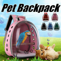 Pet Parrot Carrier Bird Travel Breathable Transparent Space Capsule Backpack