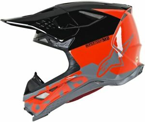 Alpinestars Motocross Helmet S-M8 SM-8 Supertech Radium Red Black Grey