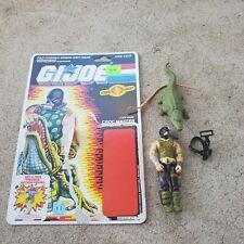 Vintage GI Joe Figure 1987 Croc Master complete (hose) with full file card