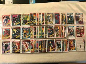 1990 Impel Marvel Universe Series 1 Trading Card Set of 162 SEE DESCRIPTION