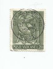 VATICAN 1966 Work and Art 20 lire postmarked city of the Vatican- USED