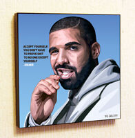 Drake Music Quote Wall Pop Art Poster Frame Canvas Print Painting Gifts